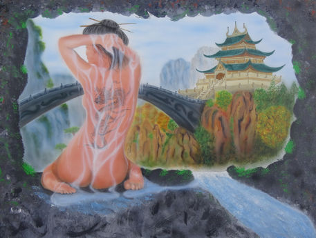 Asian-girl-airbrush-fantasy-colorair-fineart-kunstdruck