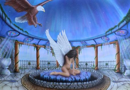 Endangered-angel-fantasy-airbrush-colorair-fineart