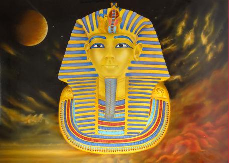 Tutanchamun-agypten-konig-airbrush-fantasy-colorair-fineart
