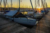 'Boote im Jachthafen Bodman bei Sonnenaufgang - Bodensee' by Christine Horn