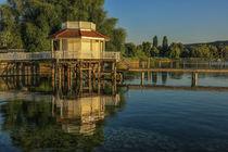 'Bootshaus in Bodman-Ludwigshafen im Morgenlicht - Bodensee' by Christine Horn