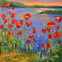 Poppies by the river von Olha Darchuk