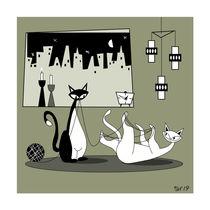 Mid Century Modern Atomic Cats Disaster 4.0 von atomicoffice