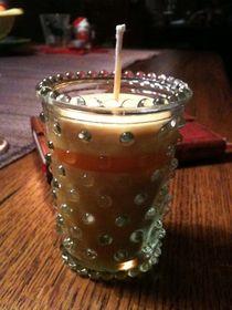 Kerze im Glas von geschichtenmacherin