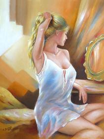 Sexy Frau am Spiegel von Marita Zacharias