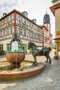 Rossmarktbrunnen  Alzey 03 von Erhard Hess