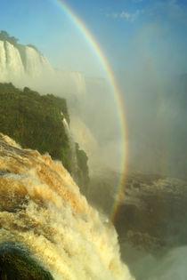 Regenbogen über den Wasserfällen von Iguazu 1 by Sabine Radtke