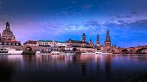 Hofkirche von Dresden bei Abenddämmerung von Stephan Hockenmaier