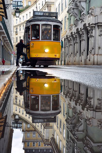 Yellow tram, Portugal by Joao Coutinho