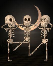 Skelett Halloween von Conny Dambach