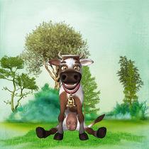Kuh auf der Weide von Conny Dambach