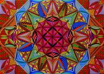 Mandala roter Kern von Wolfgang Johann Suhadolnik