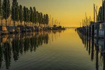'Boote im Jachthafen von Moos im Morgenlicht - Halbinsel Höri' by Christine Horn