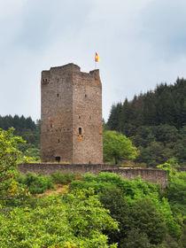 Burgruine der Oberburg in Manderscheid, Eifel by dresdner