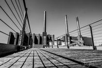Kraftwerk Wolfsburg Schwarz-Weiß von Jens L. Heinrich