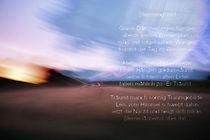 """Landschaft Zwielicht Bewegung, Rilke Text """"Stimmungsbild"""" von Wolfgang Rieger"""
