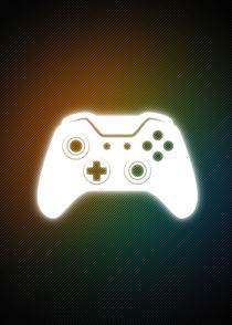 Glowing joypad silhouette by William Rossin
