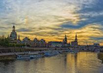 'Dresden Skyline mit Lichtstimmung' by Astrid Steffens