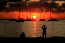 Sonnenuntergang in Santa Ponca - Sunset Mallorca von wirmallorca