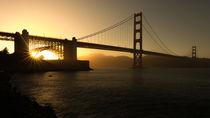 Golden Gate Brücke zu Sonnenuntergang von Klaus Tetzner