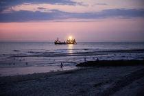 Abends auf Norderney von Heidi Bollich