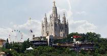 Barcelona Stadtblick von Caro Rhombus van Ruit