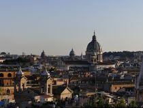 Das Dach von Rom am Abend von Caro Rhombus van Ruit