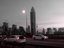 London Vauxhall Bridge by night by Caro Rhombus van Ruit