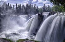 Ristafallet Wasserfall by Iris Heuer
