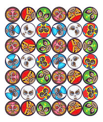Lucha Libre Masks by Richard Rabassa