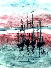 Segelboot experimentell by Christine  Hamm
