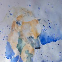 Aquarell - Eisbär, abstrakt von giorgia