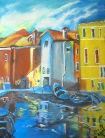 Der Hafen von Burano von Vera Markgraf