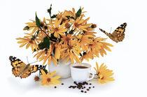 Flowers and coffee by larisa-koshkina