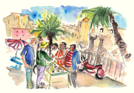Bargaining-tourists-in-siracusa