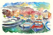Boats In Porticello von Miki de Goodaboom