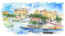 Boats In Siracusa von Miki de Goodaboom