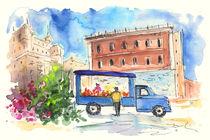 Fruit Street Seller In Palermo by Miki de Goodaboom