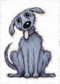 Blue dog by Keith Mills