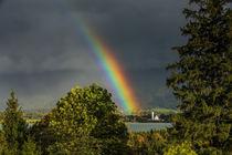 Regenbogen über dem Forggensee II - Füssen - Ostallgäu von Christine Horn