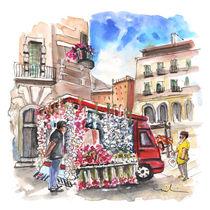 Onion and Garlic Street Seller in Siracusa von Miki de Goodaboom