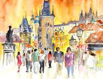 Charles Bridge in Prague in The Czech Republic von Miki de Goodaboom