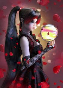 Roter Blütensturm von Andrea Tiettje