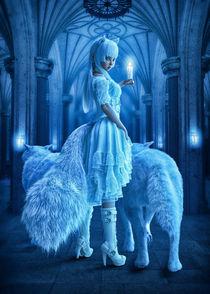 Blaue Wolfsnacht von Andrea Tiettje