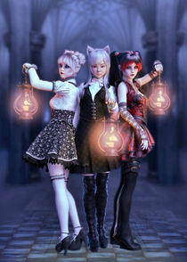Manga Trio by Andrea Tiettje