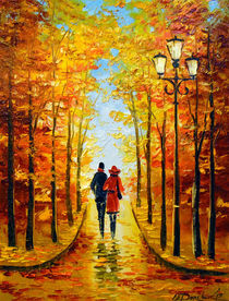 Autumn walk in the Park von Olha Darchuk