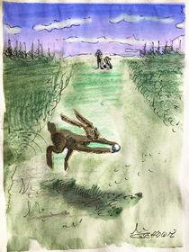 Der frühe Hasen fängt den Ball! by Mr. TSCHUWIE