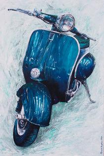 Vespa Petrol Blau von Renate Berghaus