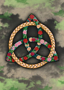 Celtic Roses Trinity (green) - Irish Knot by Colette van der Wal