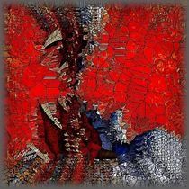 Abstrakt in Rot ohne Titel by Susanna Badau